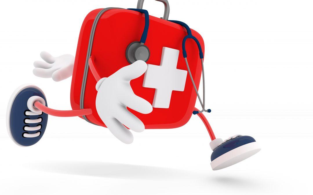 Notfall-Helferchen  beim Spaziergang